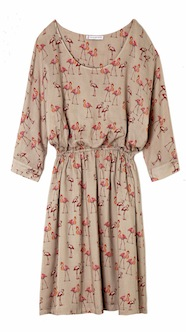 Robe-Imprime-flamants-roses-en-viscose-Paul-Joe