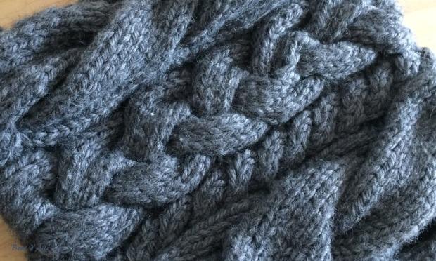 Ensemble gris à torsades (4)